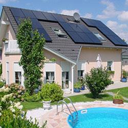 Solardach Privathaushalt