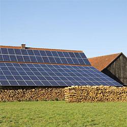Solaranlage Landwirt